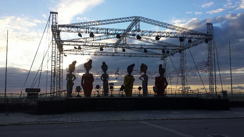 palco Piazza Mazzini Viareggio Carnevale 2014