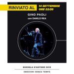 Rinviato il Concerto di Gino Paoli alla Bussola Versilia